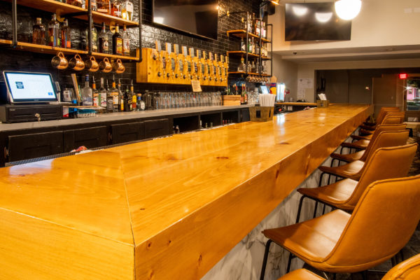 Taphouse with large beer selection and a wide variety of steaks, seafood, appetizers and desserts